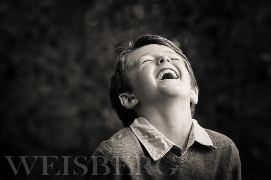 ©-marcweisberg.com-2011 black & white portrait of a 6 year old boy laughing