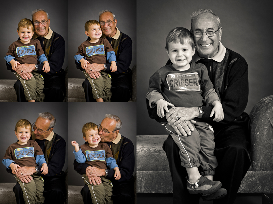 three year old boy and granddad photo session pictures