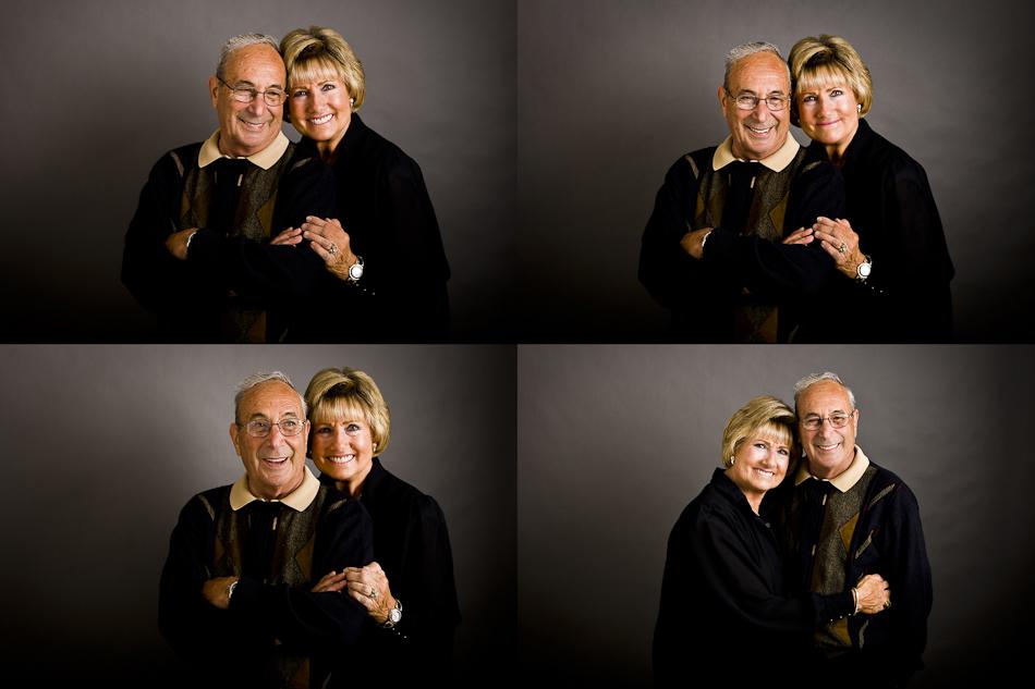 Senior Studio Portrait of Grandparents