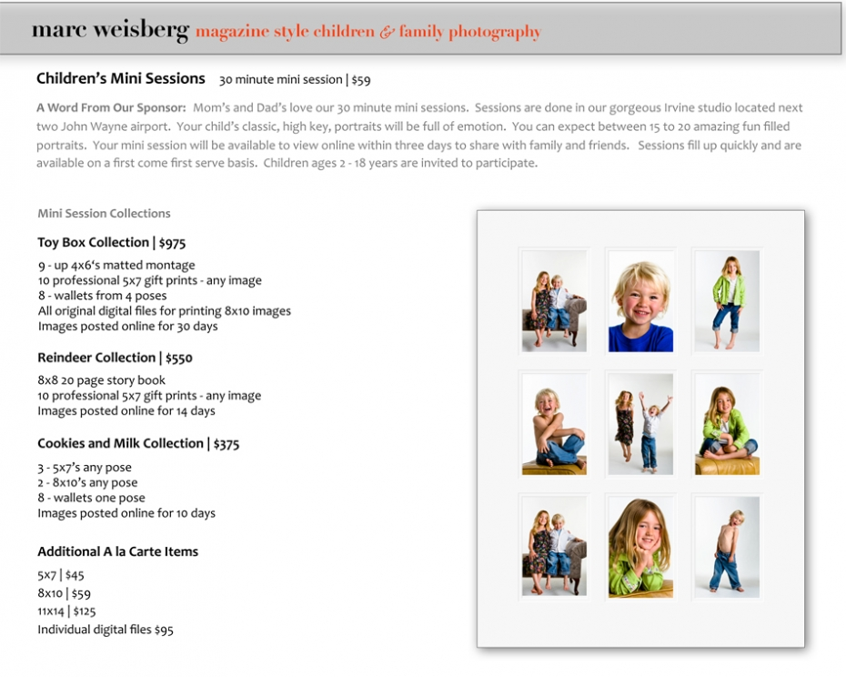 Kids and children portrait photography in Irvine and Newport Beach, California