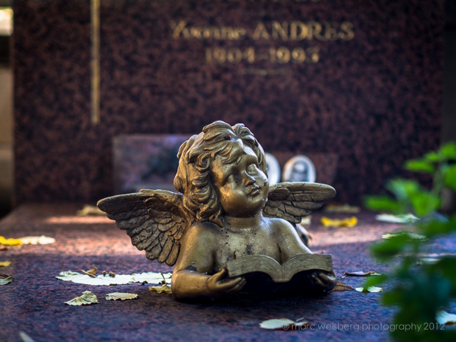 angel, pere lachaise cemetery, paris, picture