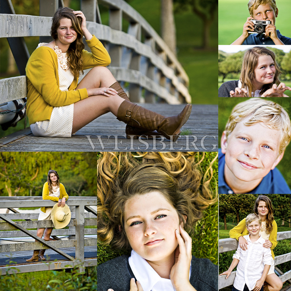 beautiful outdoor children's portraits in laguna beach of brother and sister