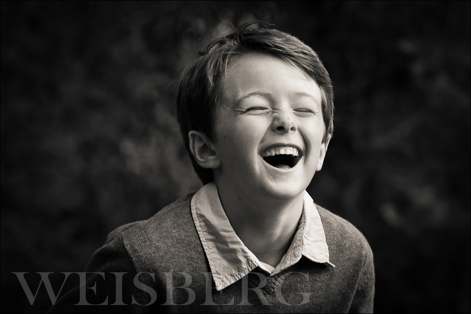 ©-marcweisberg.com-2011 black & white portrait of a 6 year old boy laughing