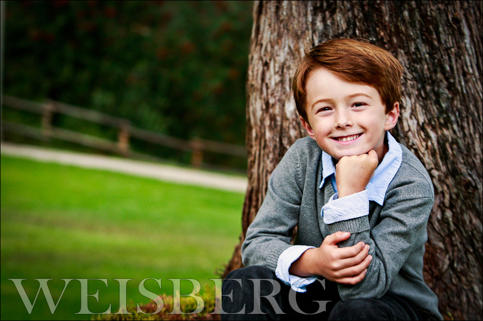 portrait of lucas at 6 years old park orange county california