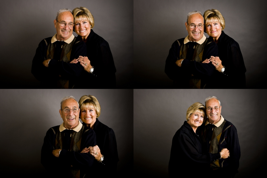 Senior Studio Portrait of Grandparents