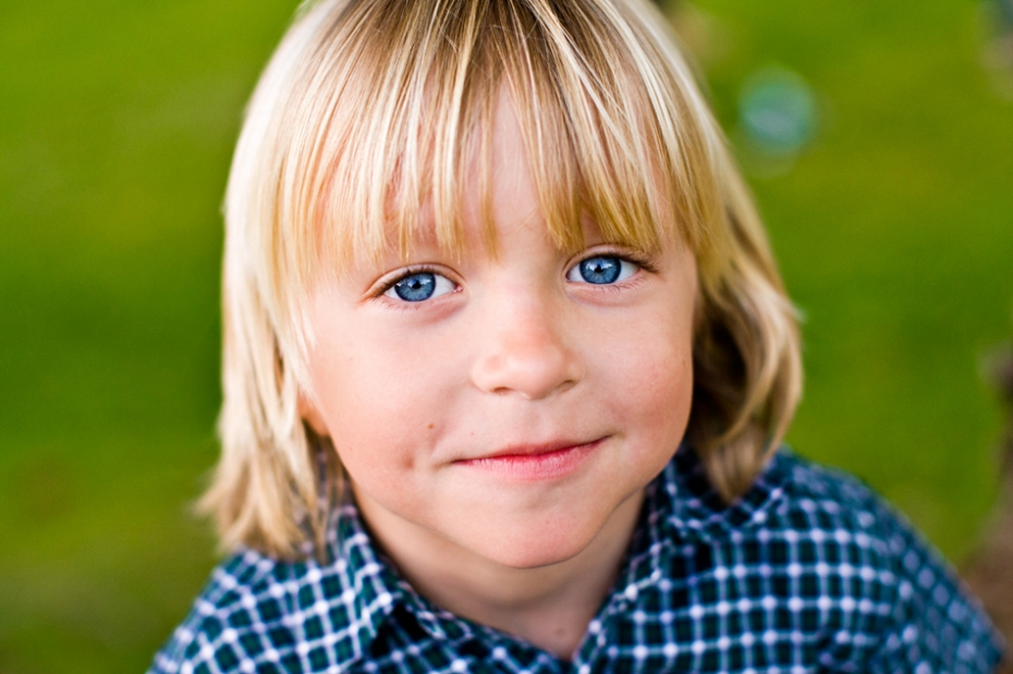 close up fun portrait of a young boy orange county family photographer