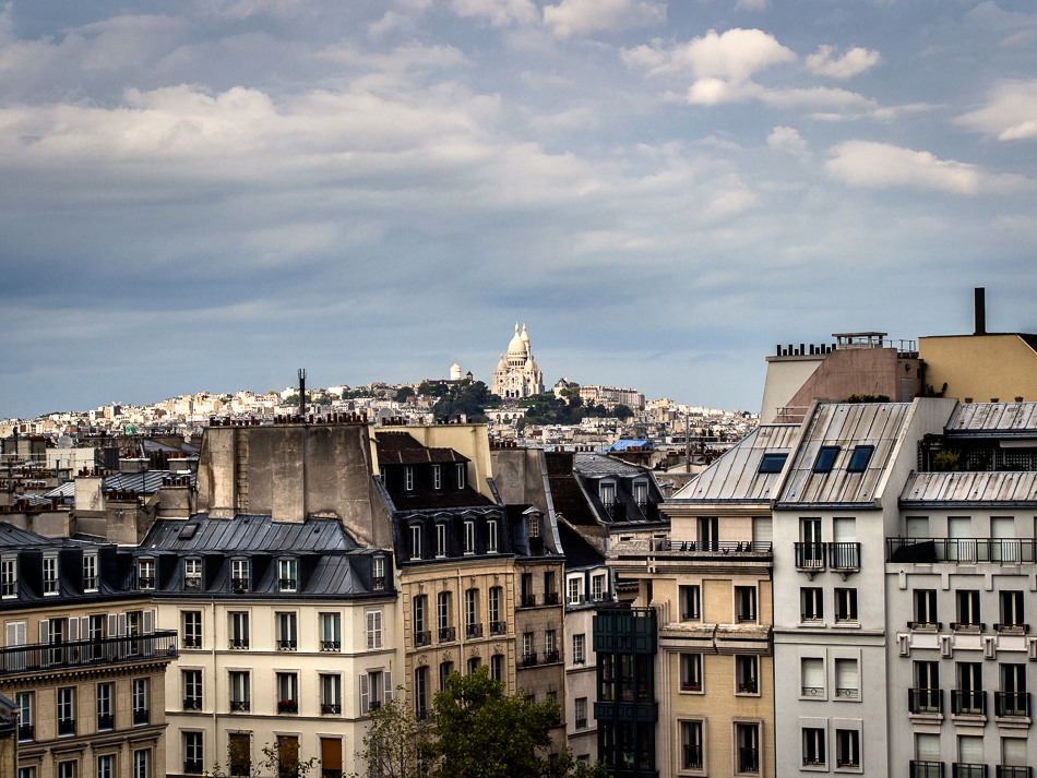 Photograph of Sacré-Coeurf from the Centre Pompidou photographed by travel photographer Marc Weisberg