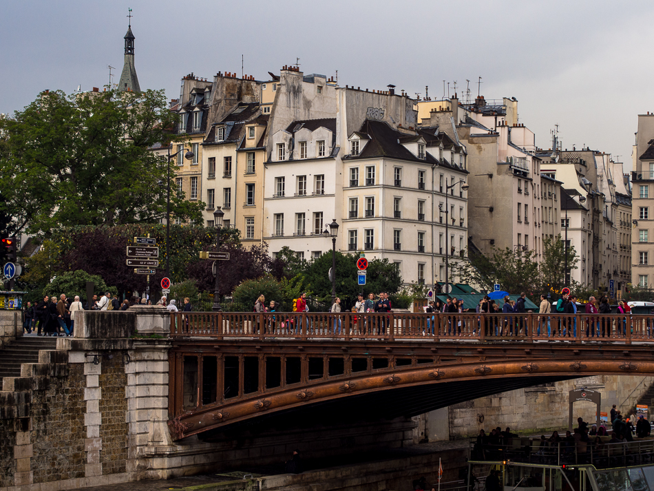 Pedestrian foot bridge near Notre Dame, Paris