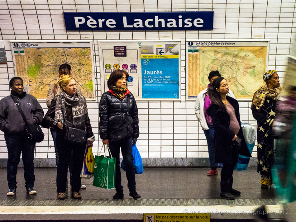 metro stop Pere Lachaise, Paris, picture