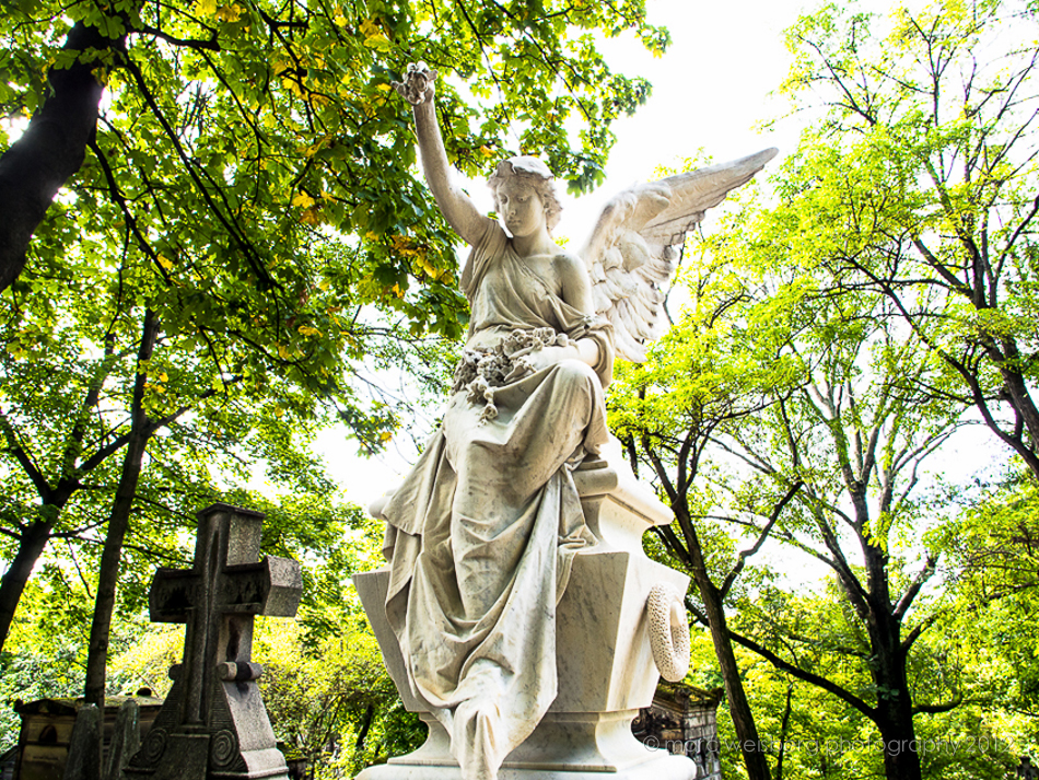 angel, pere lachaise cemetery, paris, photograph, picture