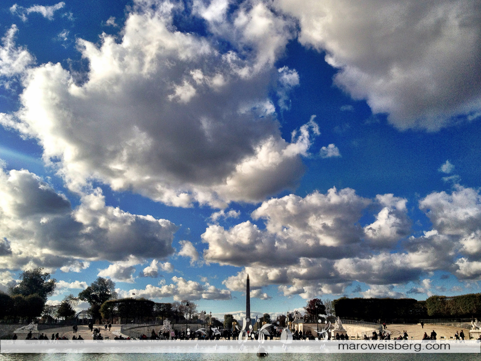 Landscape iPhoneography, backside of the Tuileries, Louvre, Paris