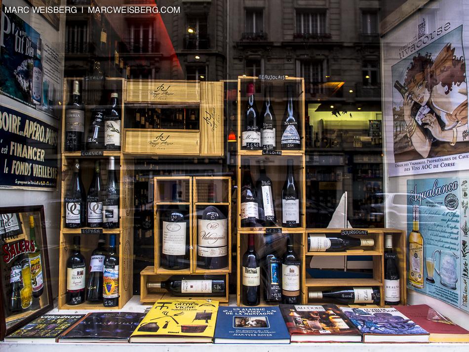 wine shop window paris food photographer
