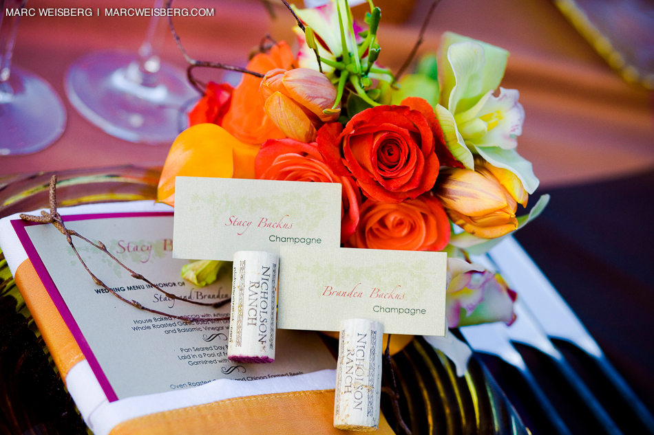 napa valley wedding photographer table setting detail pictures
