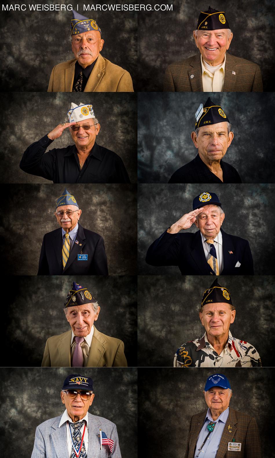 studio photographs of jewish world war II veternas
