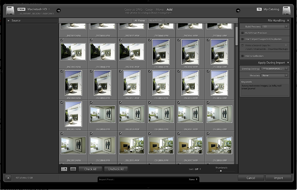 Post Production Backup System for Architectural and Real Estate Photographers